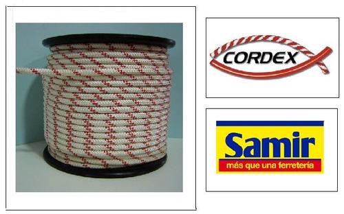 cuerda driza #8 blanca *mts cordex (cuerda brillante caribe