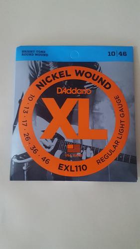 cuerda guitarra electrica 0.10  xl010 d^addario   oferta