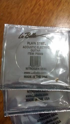 cuerda la bella 09 para guitarra eléctrica - sueltas