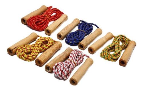 cuerda para saltar mango de madera cardio deporte / lhua