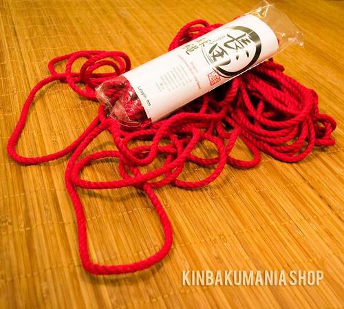 cuerda profes. roja yute p/ shibari origen japón osada steve