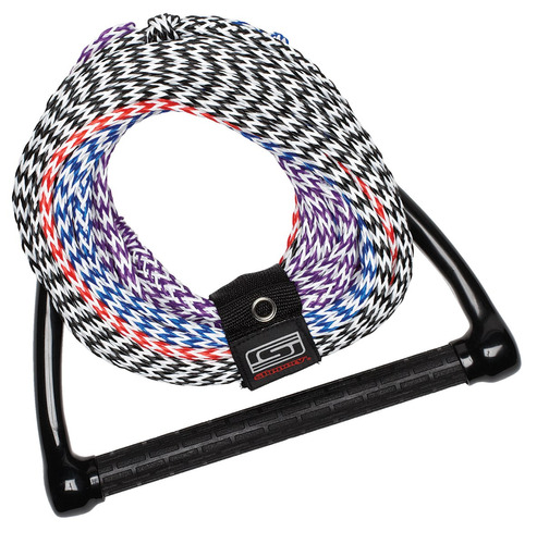 cuerda slippery cuatro secciones multicolor/azul/rojo