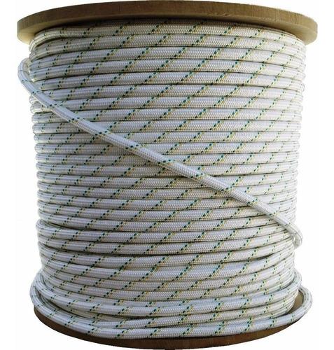 cuerda soga cabo 6.mm polipropileno fuerte - rollo x 100.m - material virgen de alta tenacidad trenzado diamante
