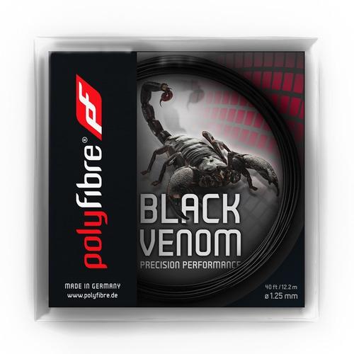 cuerda tenis polyfibre black venom set individual 12.2m