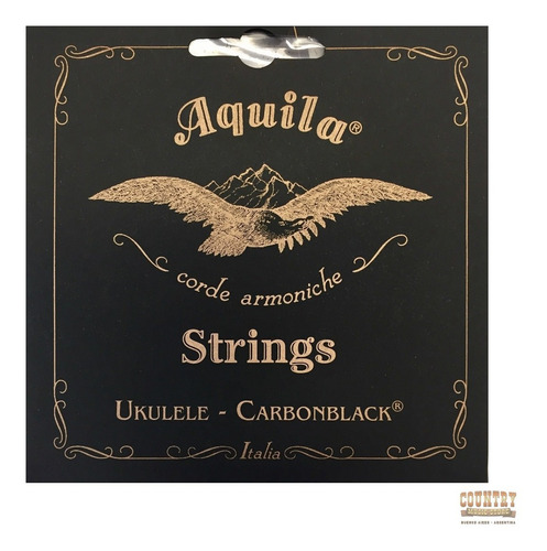 cuerdas aquila carbonblack ukelele tenor regular encordado