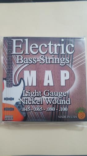 cuerdas bajo electrico 4 cuerdas map totalmente nuevas