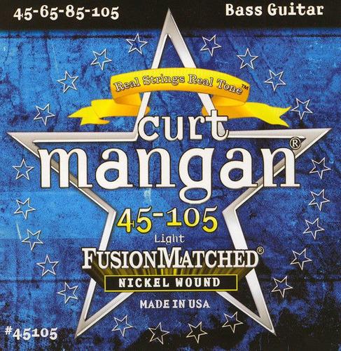 cuerdas bajo eléctrico 45-105 marca curt mangan envio gratis