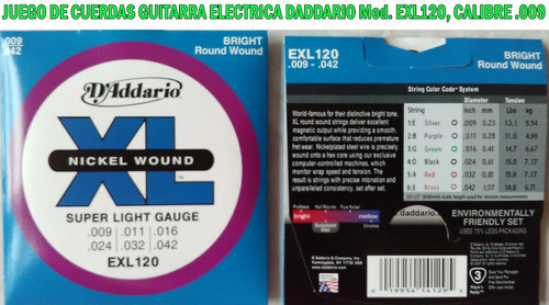 cuerdas daddario para guitarra electrica y acustica