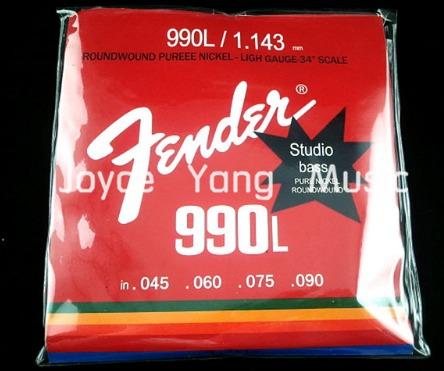 cuerdas de bajo eléctrico fender 990l/1.143mm