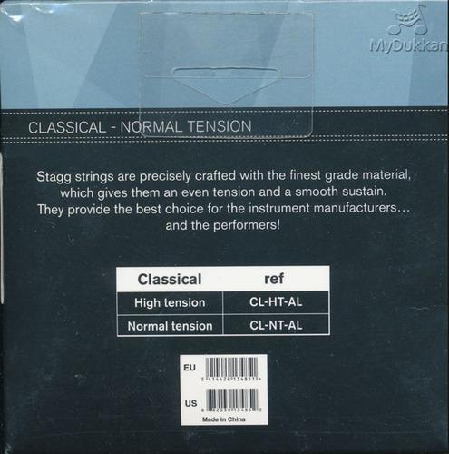 cuerdas de guitarra clasica stagg cl-nt-al - normal tension