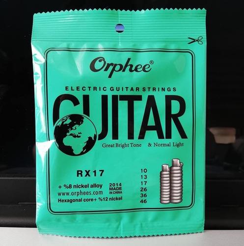 cuerdas de guitarra eléctrica orphee calibre 10