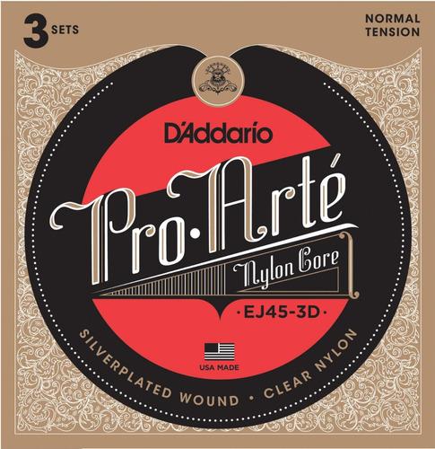 cuerdas de nylon d'addario - guitarra clasica tension normal