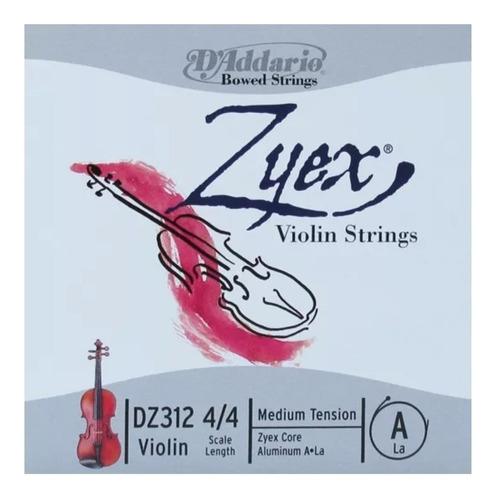 cuerdas de violin marca daddario zylex dz312 4/4 a la