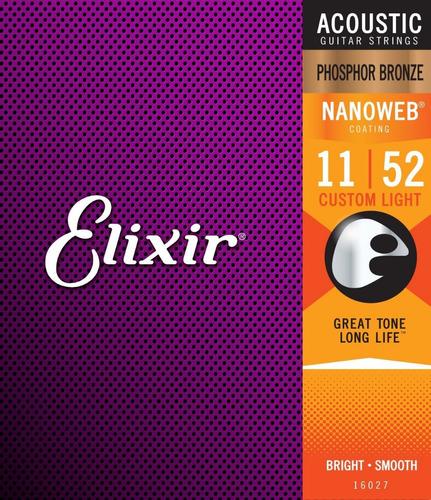 cuerdas elixir 16027 phosphore bronze  cal..011-.052