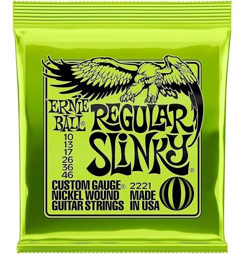 cuerdas ernie ball 2221 regular slinky 10 a 46 para guitarra