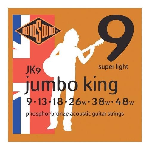 cuerdas guitarra acustica acero rotosound jk9