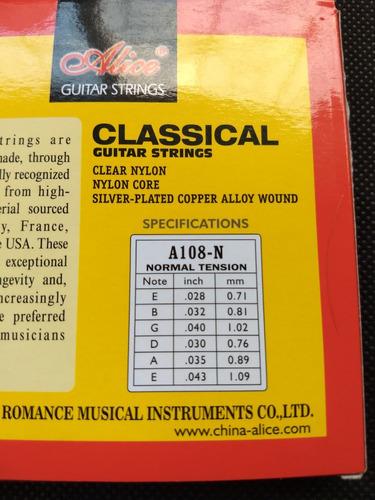 cuerdas guitarra acústica clásica de nylon prof **rematando*