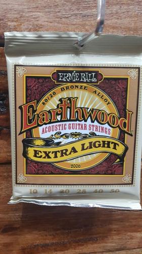 cuerdas guitarra acústica ernie ball 010 electroacústica b20