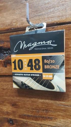 cuerdas guitarra acústica magma 010 electroacústica ga120