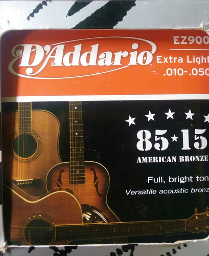 cuerdas metal daddario guitarra acustica electroacustic folk