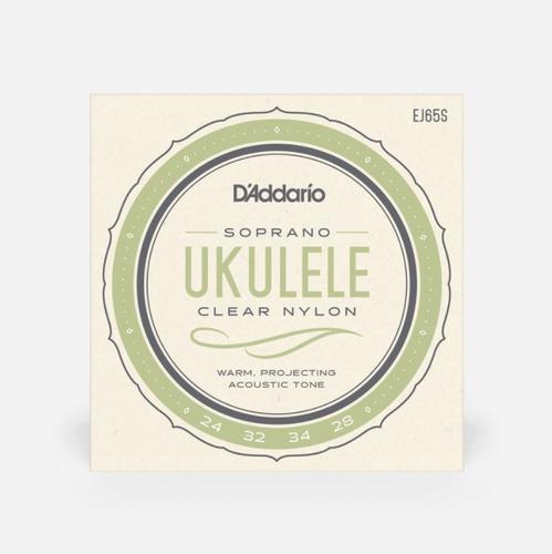 cuerdas nylon para ukulele daddario ej65s d'addario soprano