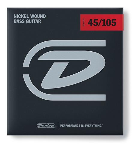 cuerdas para bajo bass-nkl 4/set 45/105 dunlop dbn 45105