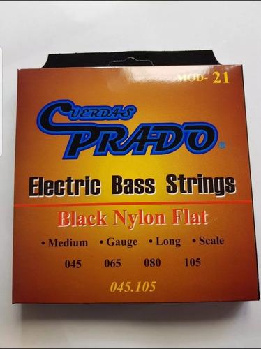 cuerdas para bajo electrico 4 cuerdas flat color negro