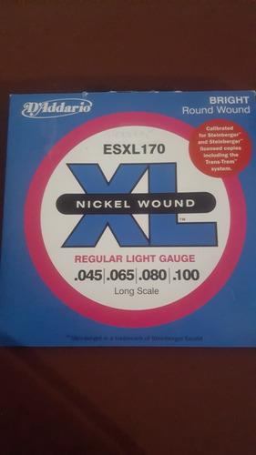 cuerdas para bajo electrico d addario esxl 170 .045 nuevas