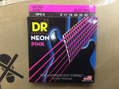 cuerdas para guitarra electrica dr neón pink