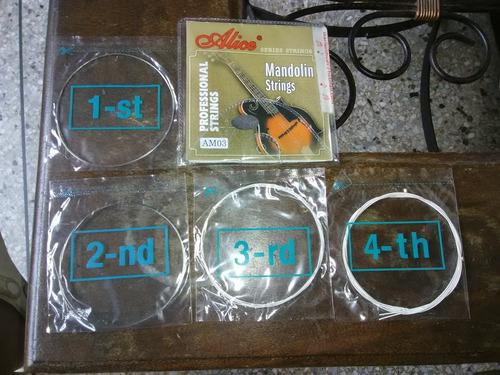 cuerdas para mandolina nuevas marca alice origi