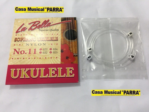 cuerdas para ukelele soprano