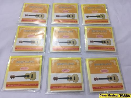 cuerdas para ukelele  soprano y concierto color blancas