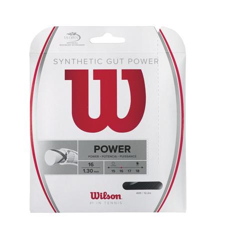 cuerdas wilson - synthetic gut power 16 bk - tenis