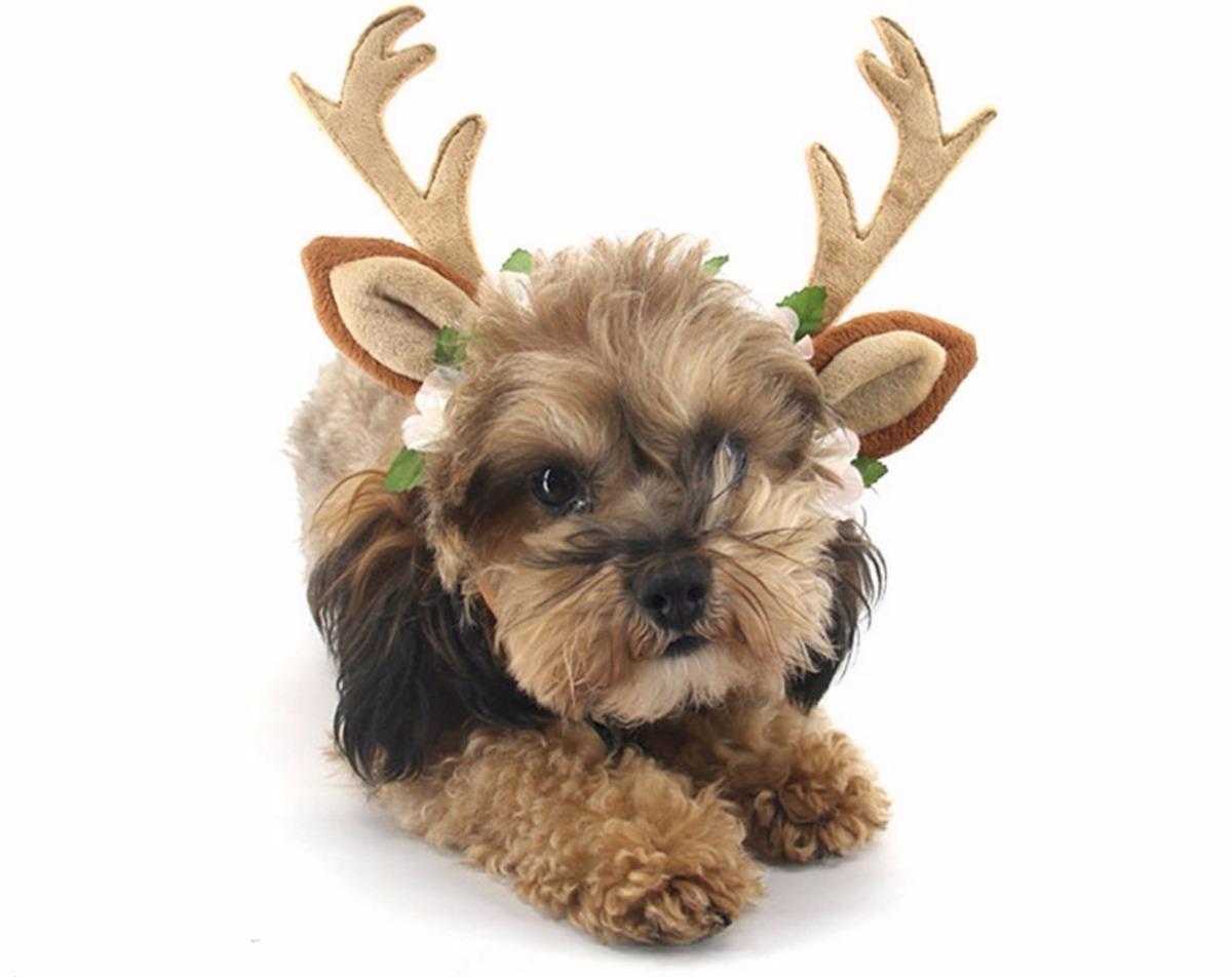 Cuernos De Venado Diadema Navidad Halloween Disfraz Mascotas ... bb9eae8b4750