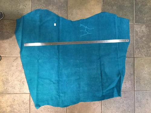 cuero descarne gamuzado color turquesa 1,25m2