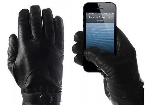 cuero garantizado guantes de motociclista