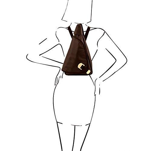 cuero toscana - hanoi - mochila de cuero negro - tl140966 /2