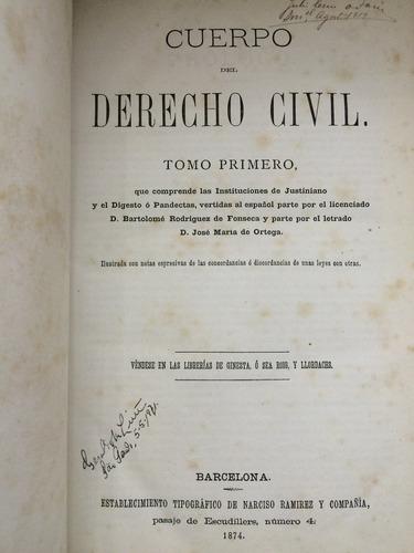 cuerpo del derecho civil, 2 volumes