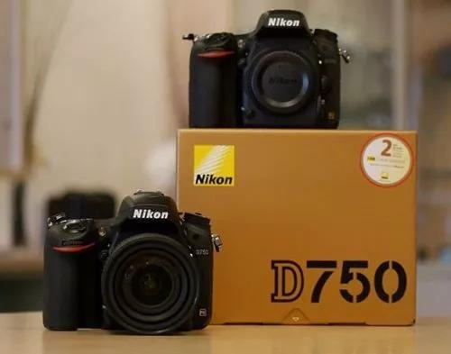 cuerpo nikon d750 + batería  adicional + bolso + sd64