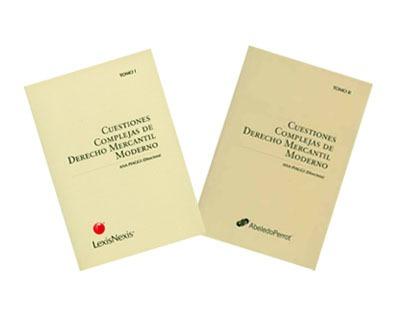 cuestiones complejas de derecho mercantil moderno. tomos i y