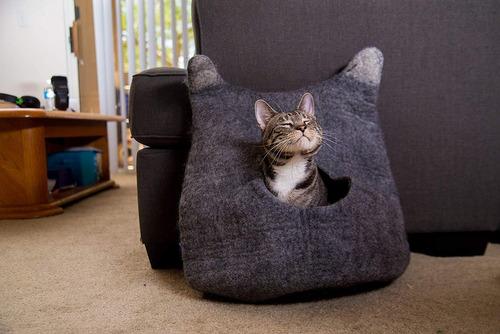 cueva cat cat, exclusiva lana de fieltro