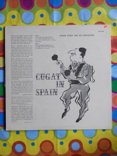 cugat in spain lp  new ortophonic