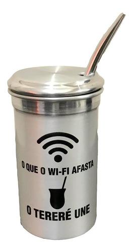 cuia de tereré 400ml -  o que o wi-fi afasta, o tereré une