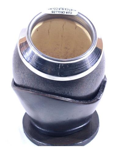 cuia uruguaia modelo coquinho c/suporte e bocal de inox