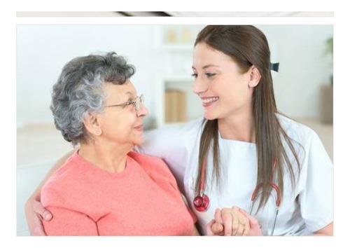 cuidado de pacientes en sanatorio u domicilio seriedad