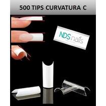 500 Uñas Convers Transparente O Tips Curvatura C Jh Nails