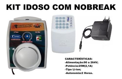 cuidador idoso com discadora telefone fixo + fonte nobreak