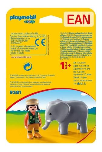 cuidadora con elefante 9381 - playmobil