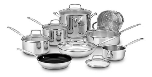 cuisinart chef s classic stainless steel cookware set