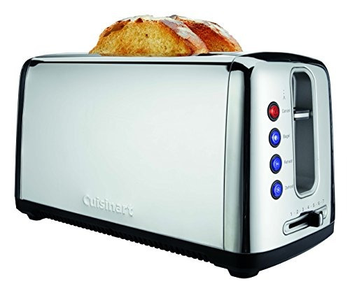 cuisinart cpt-2400 tostadora pan artesanal 2 ranuras